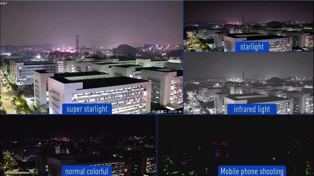 تفاوت تصویر دوربین های استارلایت و سوپراستارلایت و معمولی