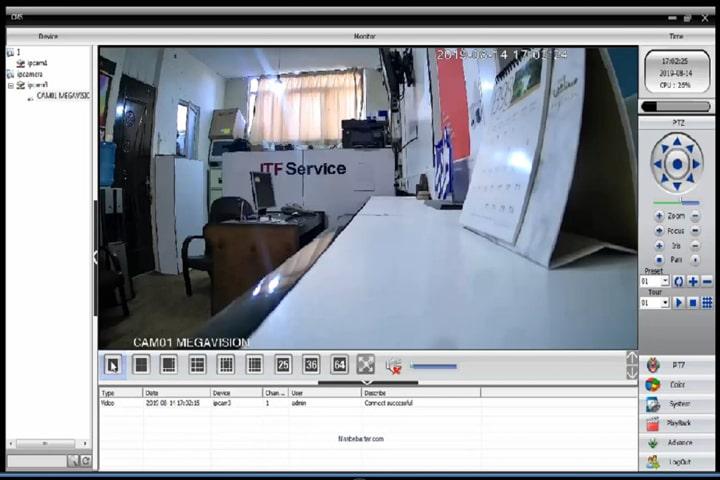 گرفتن تصویر دوربین در cms